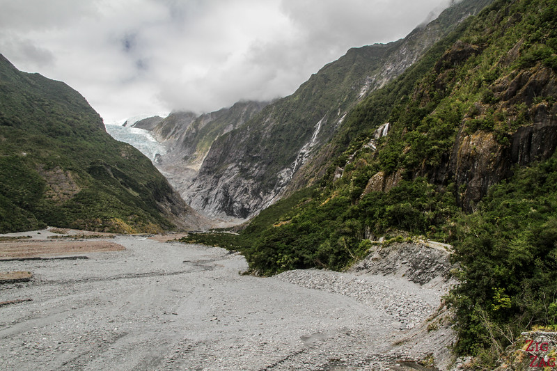 Franz Josef Glacier New Zealand - view of the glacier distance