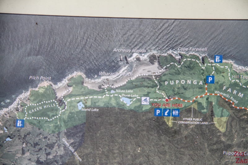 Wharariki Beach Walk map
