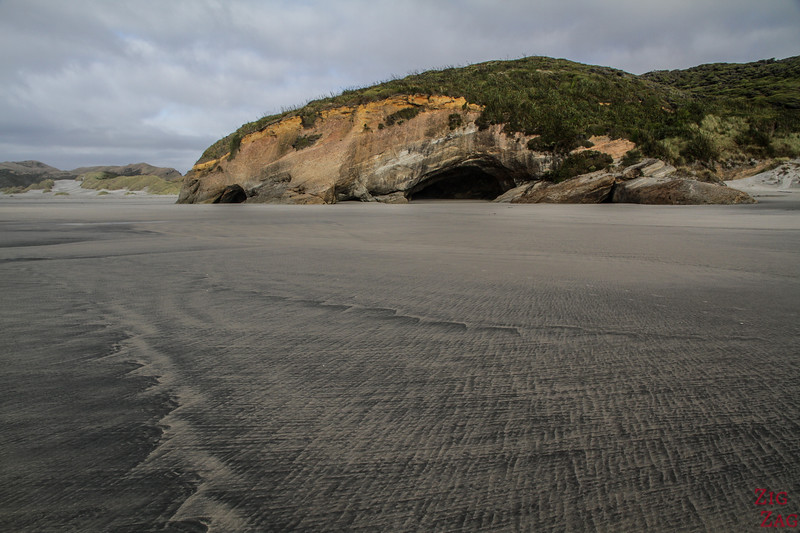 Beach of Wharariki and Caves 3