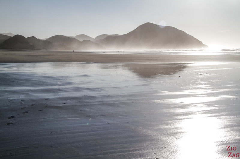 Best time to visit the beach of Wharariki tide