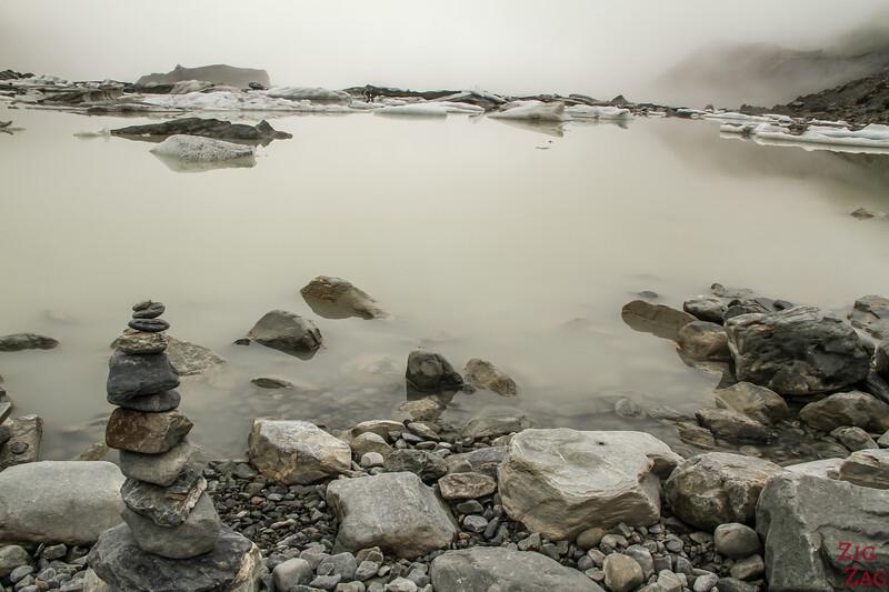 Hooker glacier lake, New Zealand