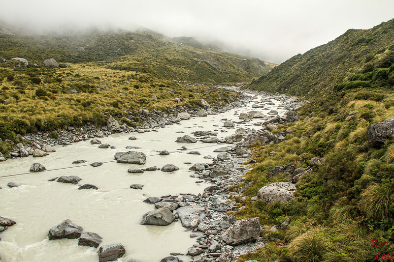 swing bridge - Hooker valley track 3
