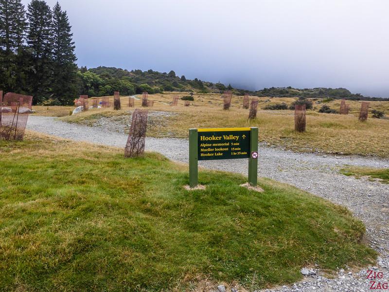 Access Hooker valley track