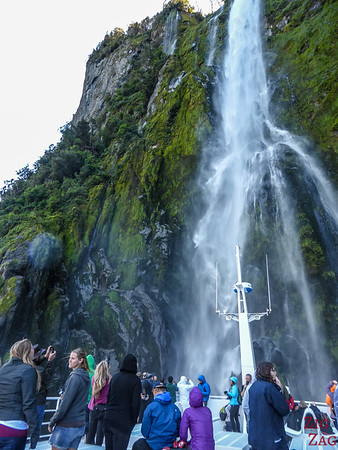 Waterfalls in the New Zealand Fjords - Milford Sound 2