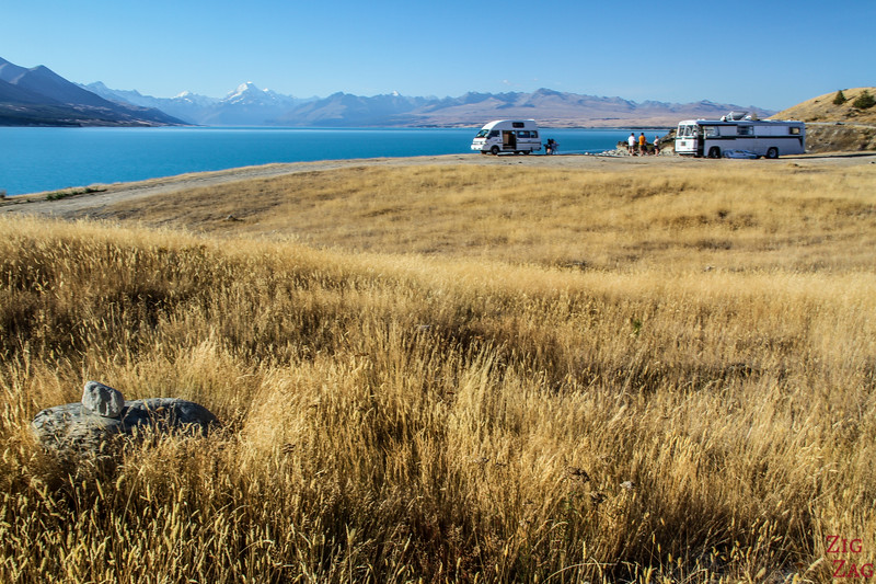 Freedom Camping at Lake Pukaki