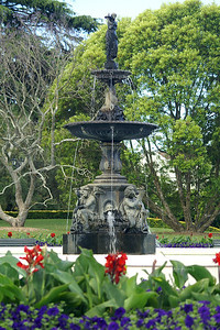 Fountain in Albert Park, Auckland , New Zealand