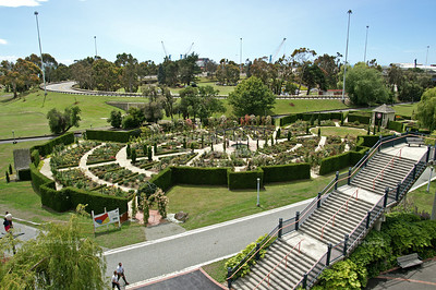 Beautifully landscaped gardens at Caroline Bay, Timaru, New Zealand