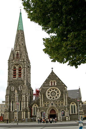 Christchurch Cathedral before the devastating 2011 earthquake
