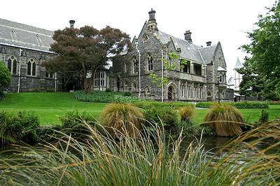 Canterbury Provincial Council Building -the Bellamy's building - in Neo-Gothic style at the banks of the Avon River in Christchurch, New Zealand Built by Benjamin Mountfort http://en.wikipedia.org/wiki/Canterbury_Provincial_Council_Buildings