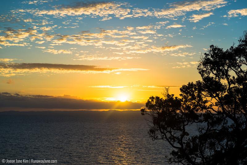 Sunset seen near the tip of Coromandel Peninsula