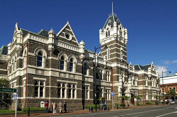 Dunedin Court House on Lower Stuart Street, Dunedin, Otago, South Island, New Zealand
