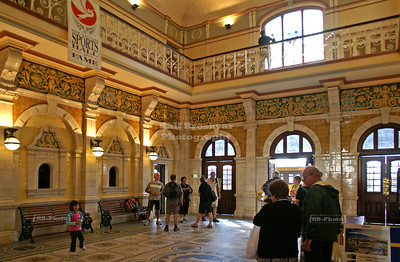 Foyer of the Dunedin Railway Station, New Zealand