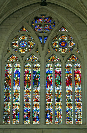 World War I Memorial Window in St. Paul's Cathedral, Dunedin, Otago, South Island, New Zealand