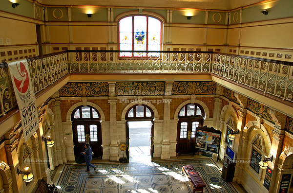 Mezzanine and foyer of the Dunedin Railway Station, New Zealand