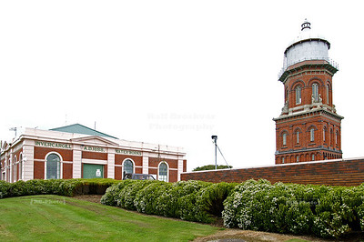 Invercargill (Waihōpai) waterworks (1888) and water tower, an architectural treasure and a prime example of Victorian architecture. Invercargill, Southland, South Island, New Zealand