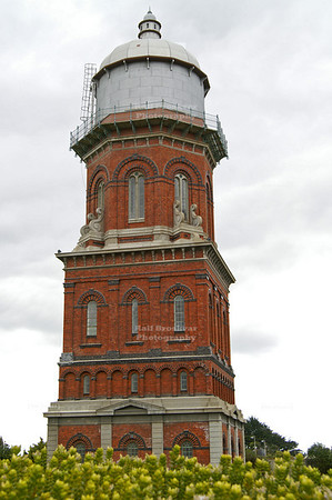 Invercargill (Waihōpai) water tower, an architectural treasure and a prime example of Victorian architecture. Invercargill, Southland, South Island, New Zealand