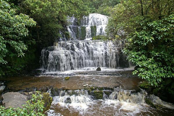 Purakaunui Falls near Owaka, Catlins, South Island, New Zealand