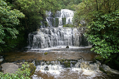 Purakaunui Falls near Owaka, Catlins, South Island, New Zealand