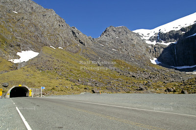 East entrance of the Homer Tunnel on New Zealand State Highway 94, Fjordland, South Island, New Zealand