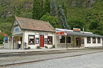 Kingston Railway Station, home of the Kingston Flyer Vintage Steam Train, Southland, New Zealand