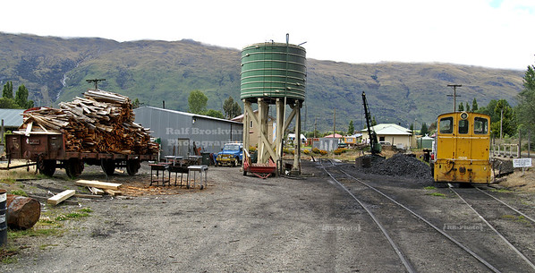 Water tower and coal depot for the Kingston Flyer Vintage Steam Train, Southland, South Island, New Zealand