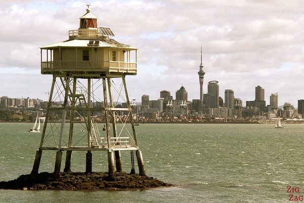 Photographing Auckland Skyline from Fuller cruise, New Zealand photo 4