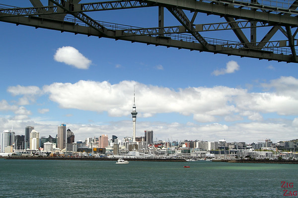 Photographing Auckland Skyline from Fuller cruise, New Zealand photo 1