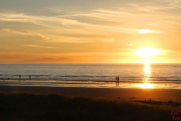 Beach sunset in New Zealand 2