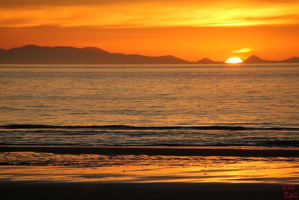 Beach sunset in New Zealand 3