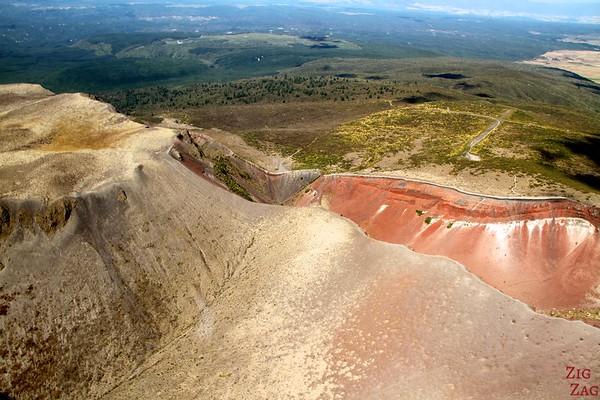 Mount Tarawera View from the floatplane Rotorua, New Zealand photo 1