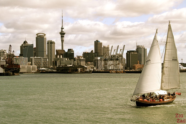 Photographing Auckland Skyline from Fuller cruise, New Zealand photo 5