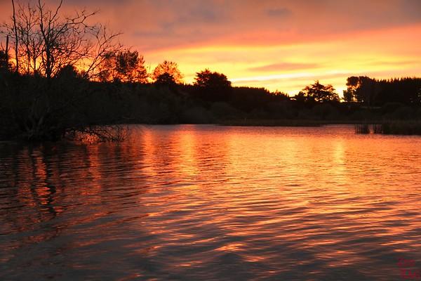 Sunrise lake New Zeland 1