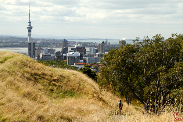 Photographing Auckland Skyline from Mount Eden, New Zealand photo 2