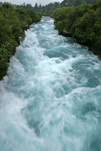 Wild rapids near Huka Falls, Taupo, North Island, New Zealand