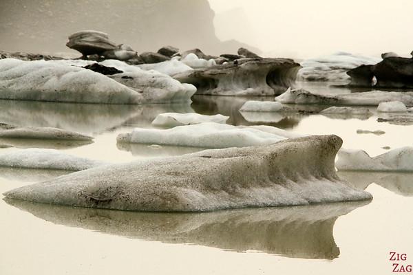 Icebergs at Hooker glacier lake photo 2