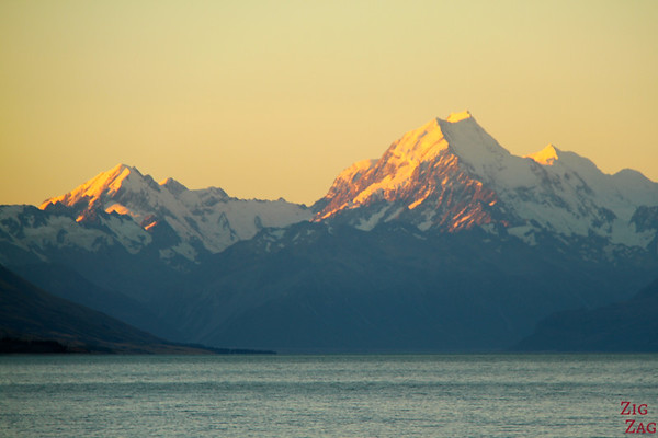 Sunset at Lake Pukaki New Zealand photo 3
