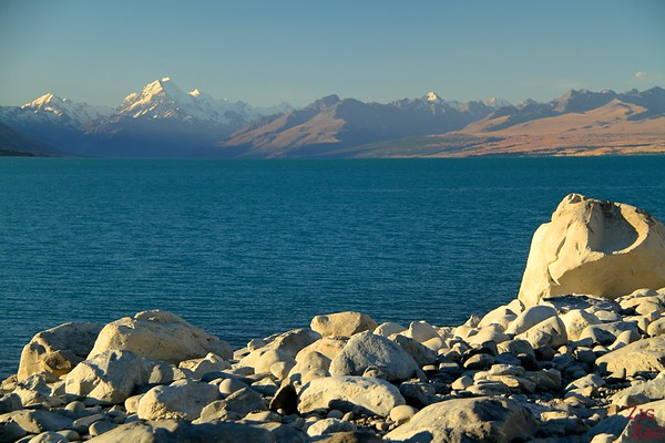 Sunset at Lake Pukaki New Zealand photo