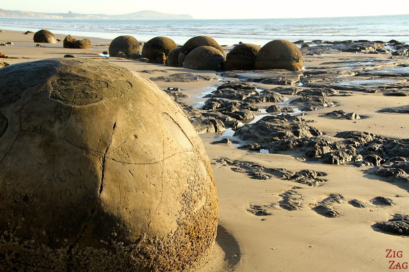 Moeraki boulders New Zealand photo 1