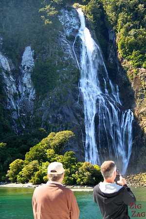 Waterfall of Milford Sount New Zealand Photo 4