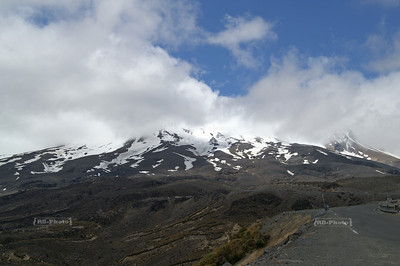 Mount Ruapehu is an active volcano and the highest peak on the North Island of New Zealand