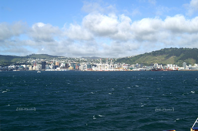 Approaching Wellington, New Zealand