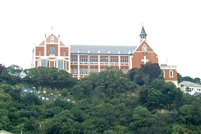 St Gerard's Monastery sits high over Oriental Bay, Wellington, North Island, New Zealand
