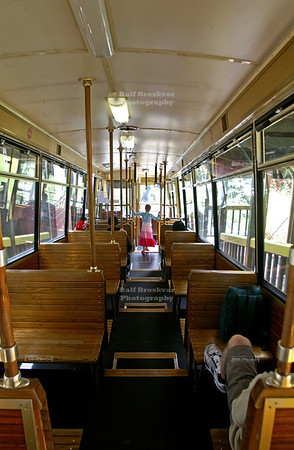 Inside a Wellington Cable Car, North Island, New Zealand