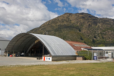 Helicopter Hangar at Queenstown Airport.
