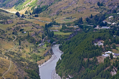 Bird's eye view of Shotover River