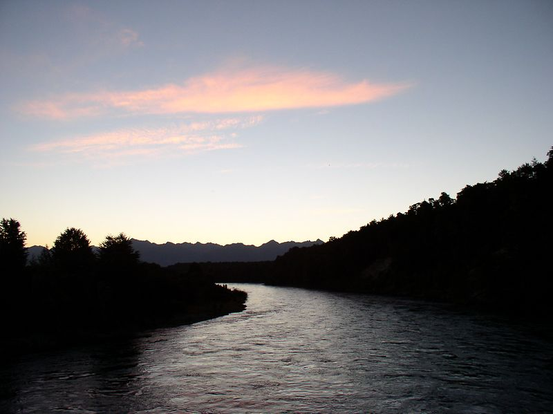 Sunset at Te Anua, taken from the end of the Kepler track