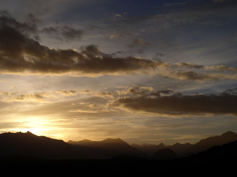 Sunset over the Fiordlands