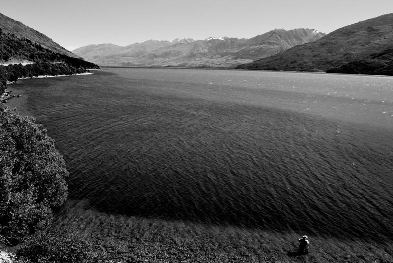 Fisherman, New Zealand