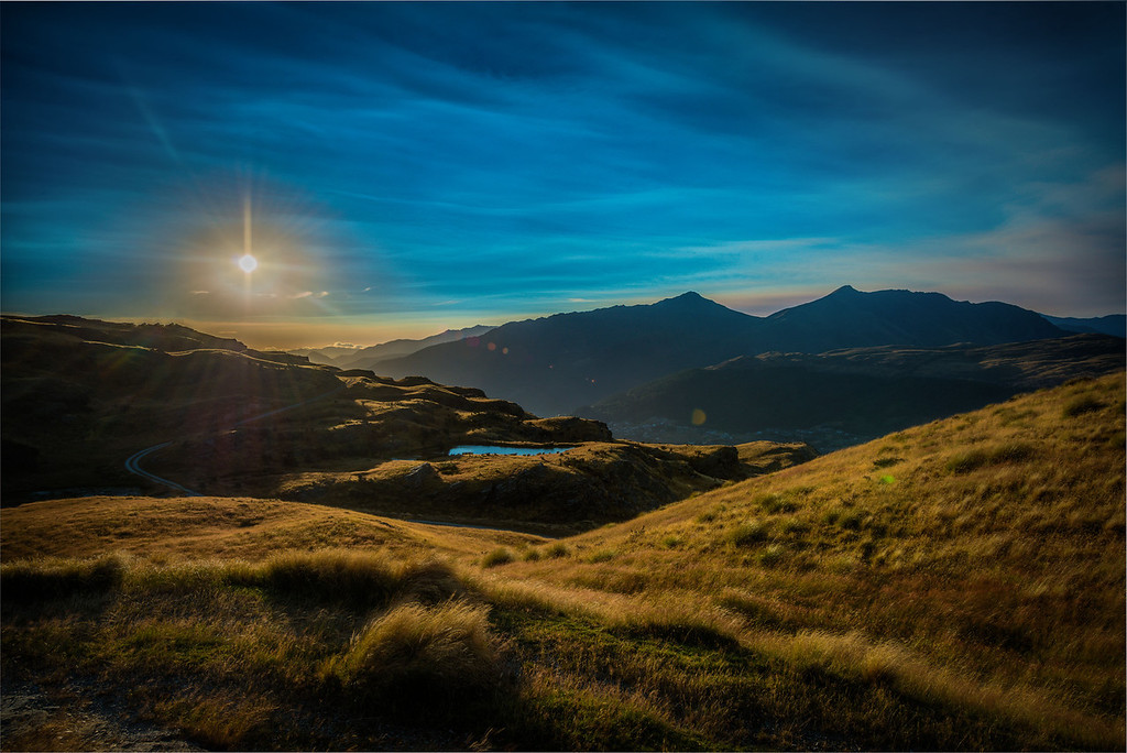 Sunset at Deer Park Heights, Queenstown, New Zealand