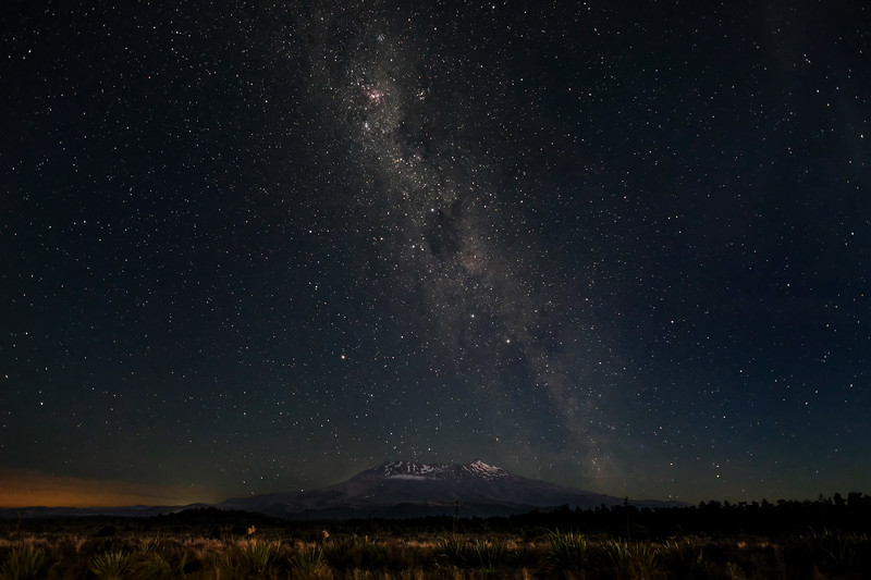 Milky Way and Southern Cross over Mt. Ruapehu.
